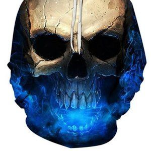 Other - 3D Effect Skull Print Pullover Hoodie